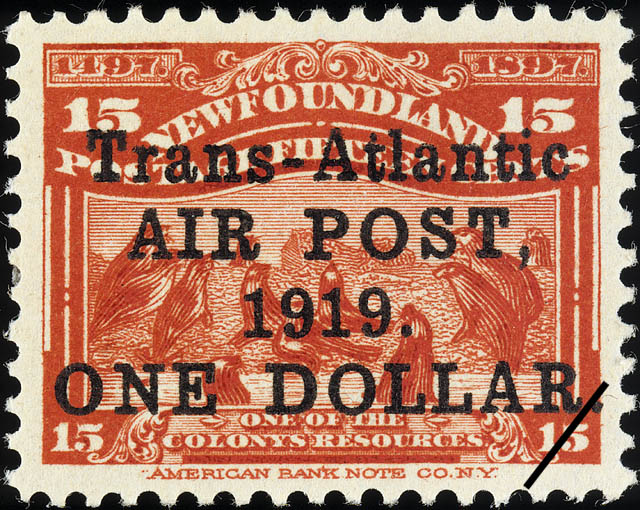 Trans-Atlantic Air Post, 1919. Newfoundland Postage Stamp