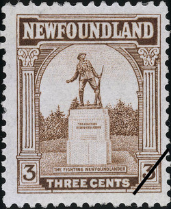 The Fighting Newfoundlander Newfoundland Postage Stamp