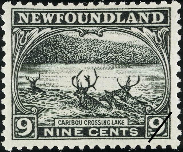 Caribou Crossing Lake Newfoundland Postage Stamp