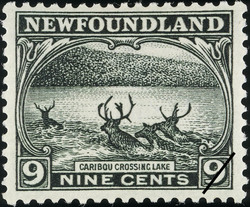 Caribou Crossing Lake Newfoundland Postage Stamp