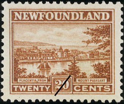 Placentia, From Mount Pleasant Newfoundland Postage Stamp