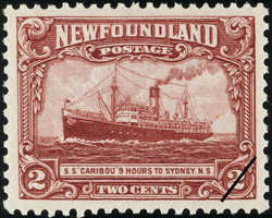 "S.S. ""Caribou"" 9 Hours to Sydney, N.S. Newfoundland Postage Stamp"