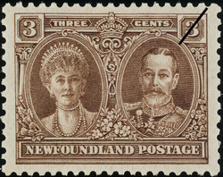 King George V and Queen Mary Newfoundland Postage Stamp