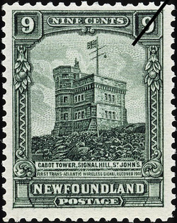 Cabot Tower, Signal Hill, St. John's, First Trans-Atlantic Wireless Signal Received, 1901 Newfoundland Postage Stamp