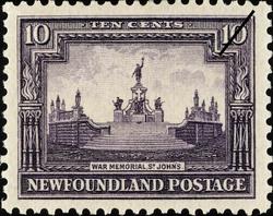 War Memorial, St. John's Newfoundland Postage Stamp