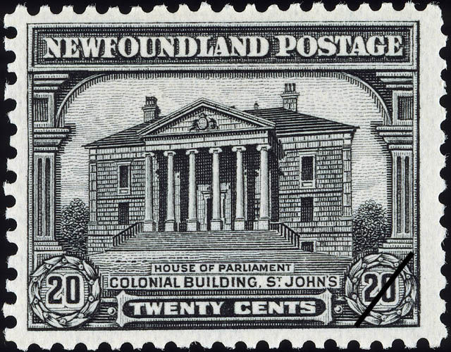 House of Parliament, Colonial Building, St. John's Newfoundland Postage Stamp