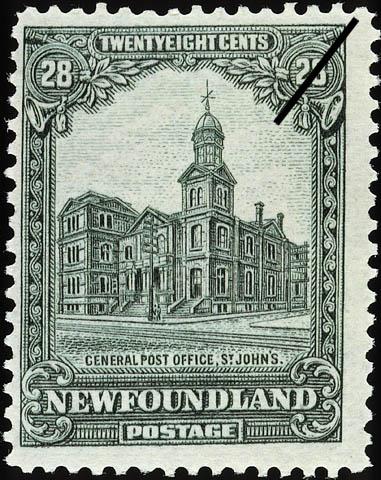 General Post Office, St. John's Newfoundland Postage Stamp
