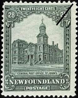 General Post Office, St. John's Newfoundland Postage Stamp