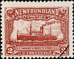 "S.S. ""Caribou"" 9 Hours to Sydney, N.S. Newfoundland Postage Stamp"