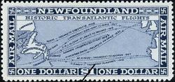 Historic Transatlantic Flights Newfoundland Postage Stamp