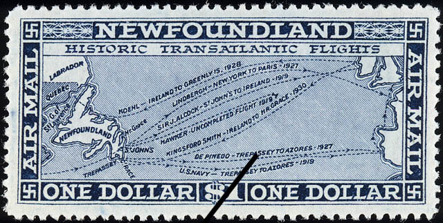 Historic Transatlantic Flight Newfoundland Postage Stamp