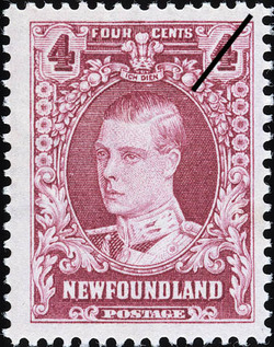 Prince of Wales, Ich dien, I Serve Newfoundland Postage Stamp