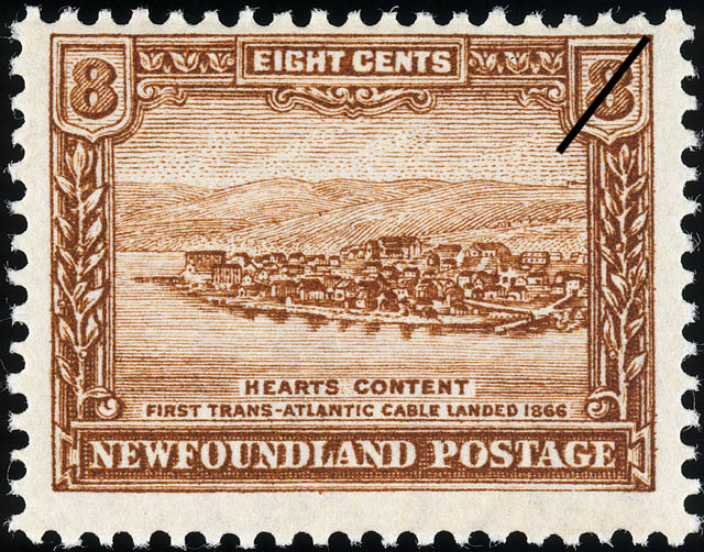 Heart's Content, First Trans-Atlantic Cable Landed, 1866 Newfoundland Postage Stamp