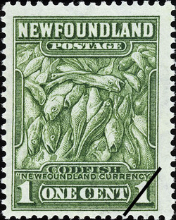 "Codfish, ""Newfoundland Currency"" Newfoundland Postage Stamp"