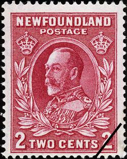 King George V Newfoundland Postage Stamp