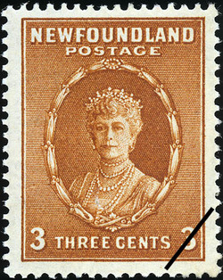 Queen Mary Newfoundland Postage Stamp