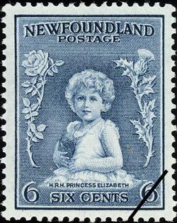 H.R.H. Princess Elizabeth Newfoundland Postage Stamp