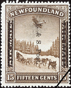 Land and Sea Post Newfoundland Postage Stamp