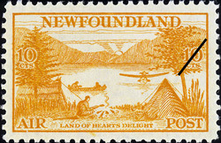 Land of Hearts Delight, Air Newfoundland Postage Stamp | Air Post