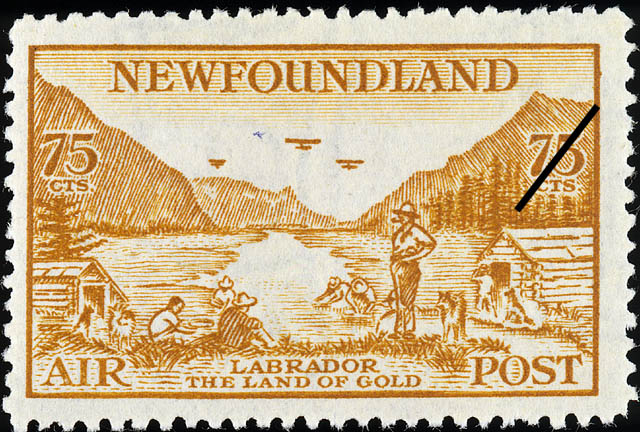 Labrador, The Land of Gold, Air Newfoundland Postage Stamp | Air Post