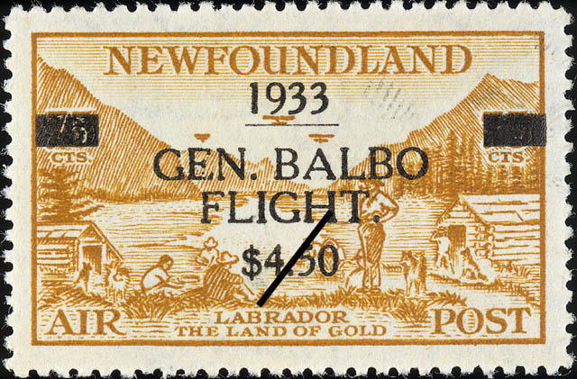 General Balbo Flight, Labrador, The Land of Gold, Air Newfoundland Postage Stamp