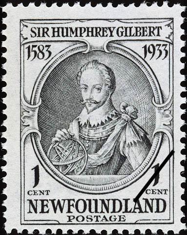 Sir Humphrey Gilbert Newfoundland Postage Stamp | Sir Humphrey Gilbert