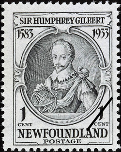 Sir Humphrey Gilbert Newfoundland Postage Stamp | Sir Humphrey Gilbert
