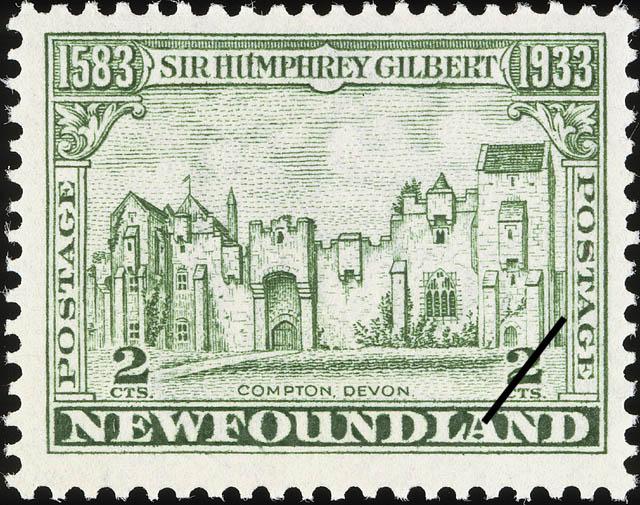 Compton, Devon Newfoundland Postage Stamp | Sir Humphrey Gilbert