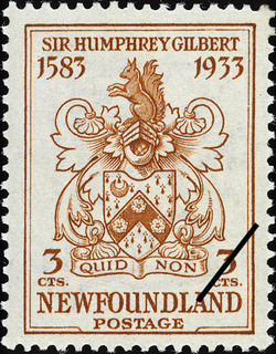 Quid Non, Why Not Newfoundland Postage Stamp | Sir Humphrey Gilbert