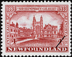 Eton College Newfoundland Postage Stamp | Sir Humphrey Gilbert