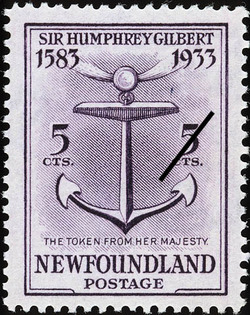The Token from Her Majesty Newfoundland Postage Stamp | Sir Humphrey Gilbert