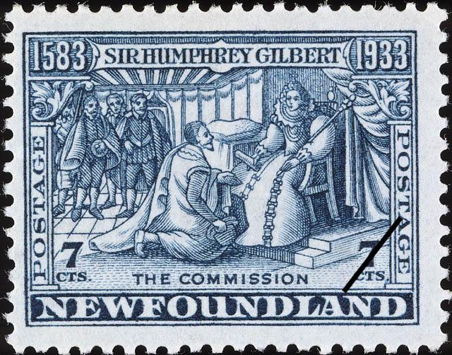The Commission Newfoundland Postage Stamp | Sir Humphrey Gilbert