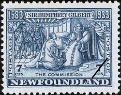 The Commission Newfoundland Postage Stamp | Sir Humphrey Gilbert