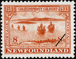 Fleet Leaving Plymouth, 1583 Newfoundland Postage Stamp | Sir Humphrey Gilbert