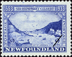 Arrival at St. John's Newfoundland Postage Stamp | Sir Humphrey Gilbert