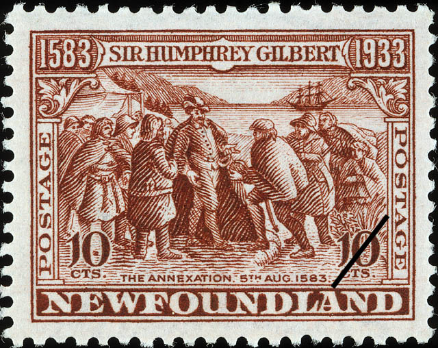 The Annexation, 5th August 1583 Newfoundland Postage Stamp | Sir Humphrey Gilbert