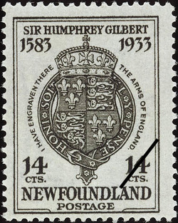 I Have Engraved There the Arms of England Newfoundland Postage Stamp | Sir Humphrey Gilbert