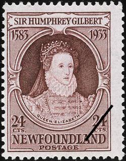 Queen Elizabeth Newfoundland Postage Stamp | Sir Humphrey Gilbert