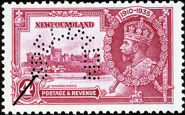 Windsor Castle, King George V Newfoundland Postage Stamp | 1910-1935
