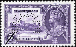 Windsor Castle, King George V Newfoundland Postage Stamp | 1910-1935