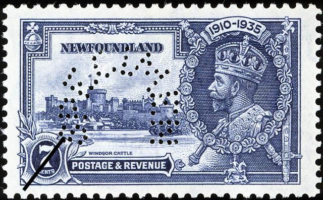 Windsor Castle, King George V Newfoundland Postage Stamp