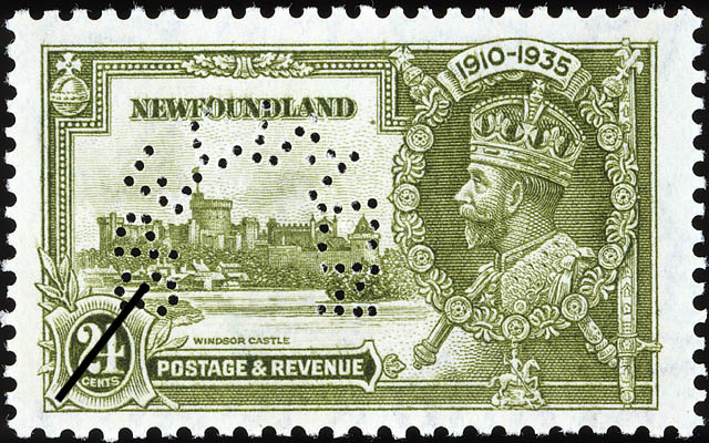 Windsor Castle, King George V Newfoundland Postage Stamp