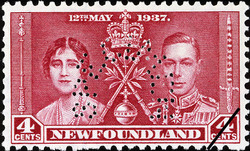 King George VI and Queen Elizabeth Newfoundland Postage Stamp