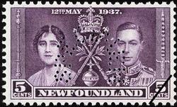 King George VI and Queen Elizabeth Newfoundland Postage Stamp