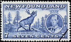 Caribou, King George VI, 12th May 1937 Newfoundland Postage Stamp