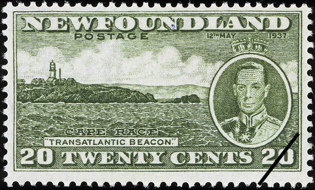 "Cape Race, ""Transatlantic Beacon"", King George VI, 12th May 1937 Newfoundland Postage Stamp"