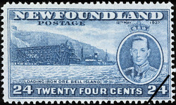 Loading Iron Ore, Bell Island, King George VI, 12th May 1937 Newfoundland Postage Stamp