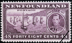 Leaving for the Banks, King George VI, 12th May 1937 Newfoundland Postage Stamp