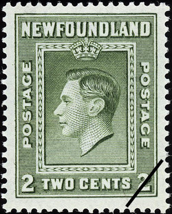 King George VI Newfoundland Postage Stamp