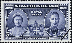 Royal Visit, June 1939 Newfoundland Postage Stamp